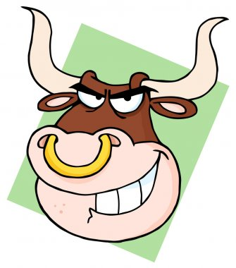 Bull With Nose Ring