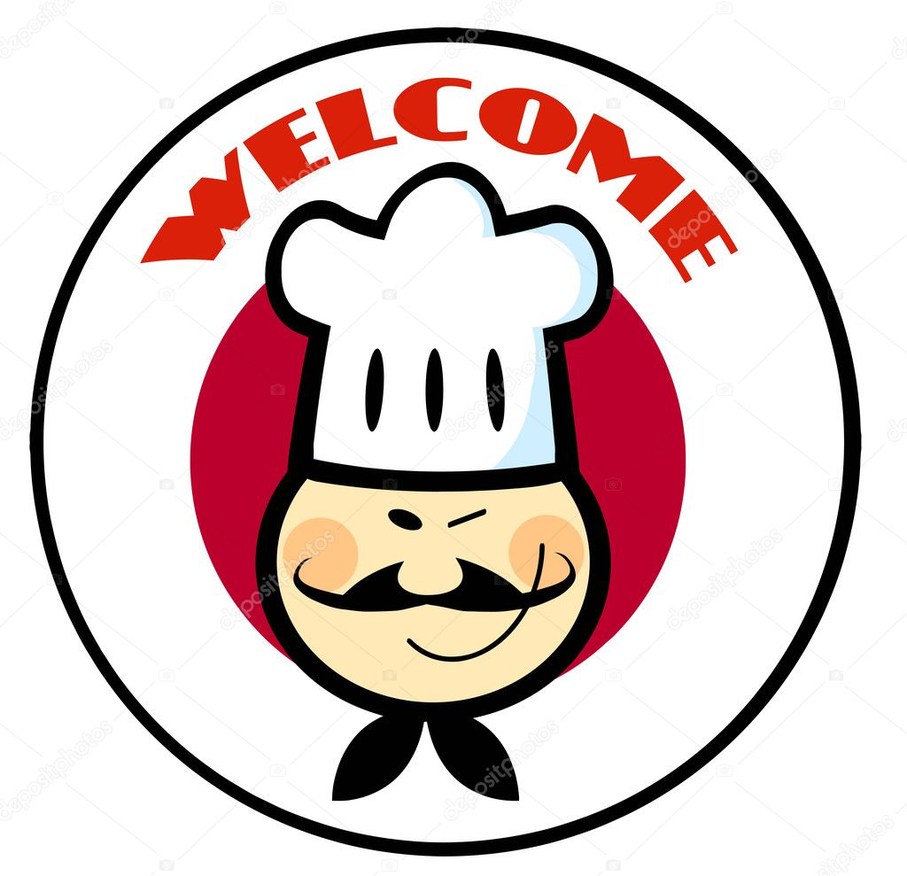 asian chef face over a japanese flag circle u2014 stock photo