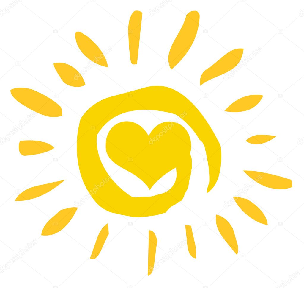 Abstract Sun With Heart