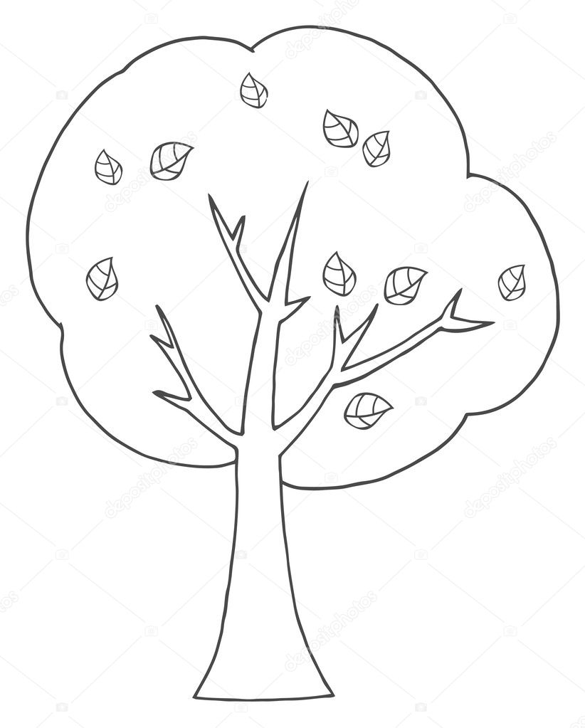 outline of a tree u2014 stock photo hittoon 7276933