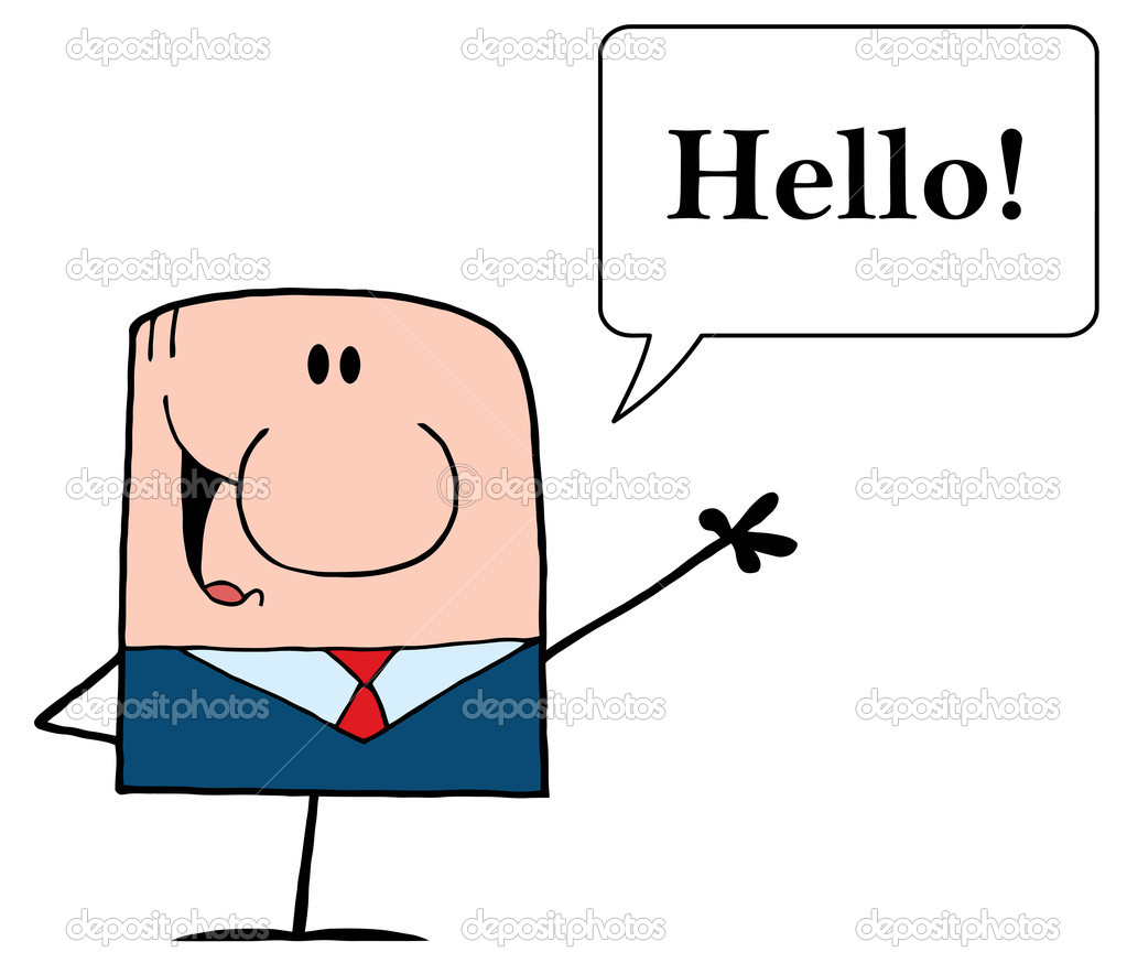caucasian businessman saying hello stock photo hittoon 7277223