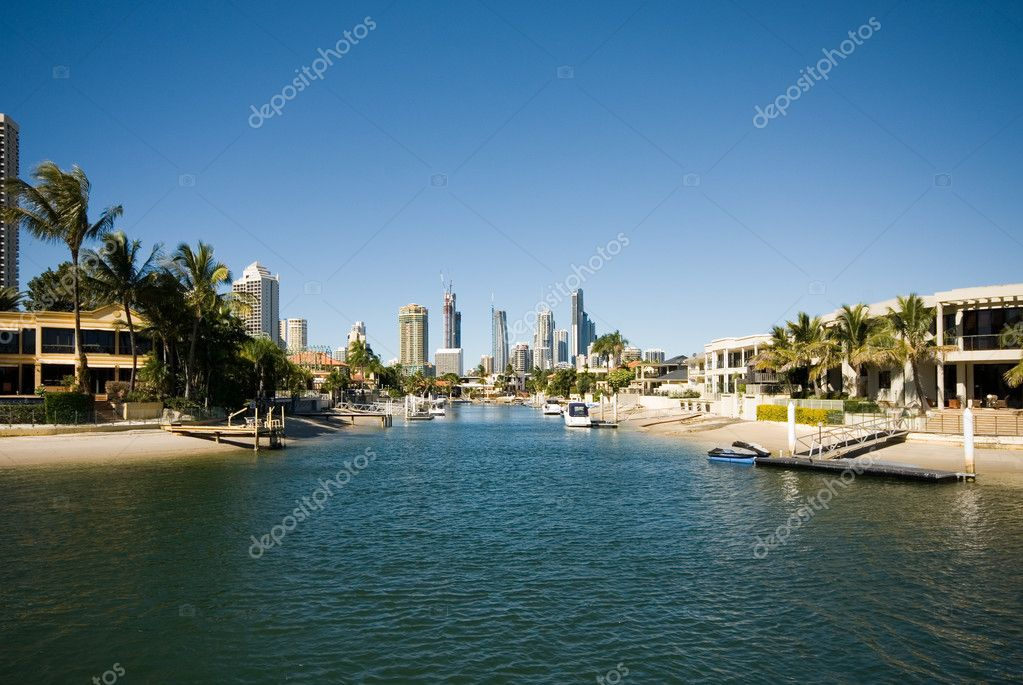 Canal Scene, Surfers Paradise, Queensland, Australia