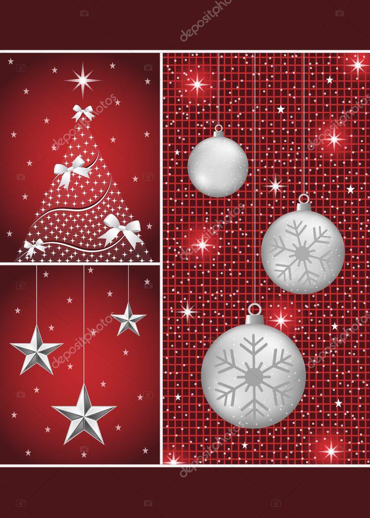 Kerstballen Boom En Sterren Stockvector C Toots77 7415583