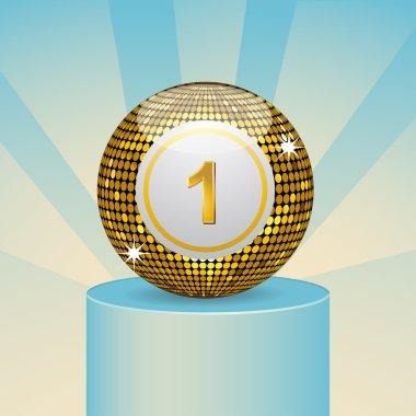 Winning bingo ball