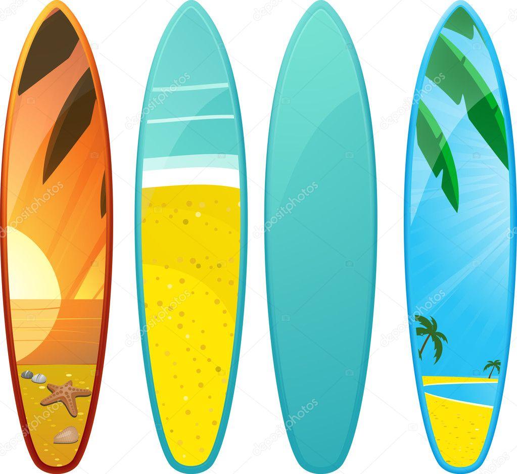 Pranchas de surf vetor de stock elaineitalia 7659146 - Dibujos para tablas de surf ...