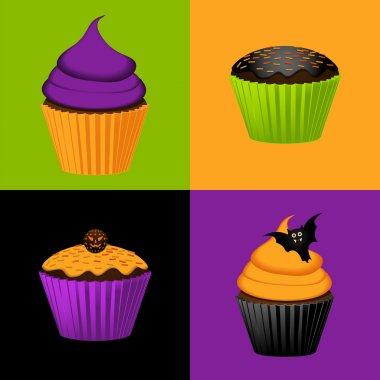 Halloween cupcake background