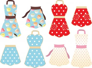 Retro baking aprons