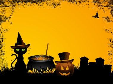 Halloween background with grunge