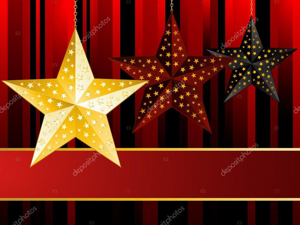 Christbaumkugeln Sterne.Sterne Christbaumkugeln Stockvektor C Elaineitalia 7660590