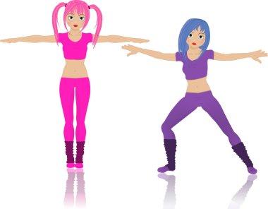 Cute gym girls
