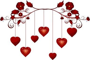 Dangling valentine hearts