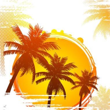 Hot tropical sunset