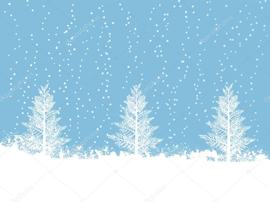 Snowing Christmas Scene.Snowy Winter Christmas Scene Stock Vector C Elaineitalia