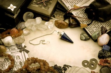 Still life with esoteric objects