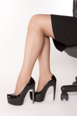 High heels on beautiful legs