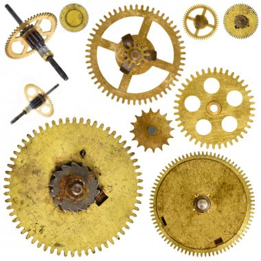 Cogwheels gears on white background
