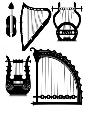 Antique strings instruments - vector