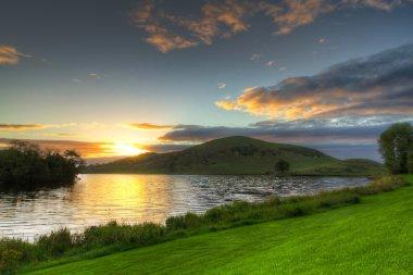 Idyllic sunset scenery