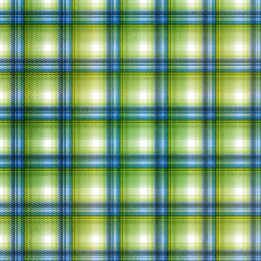 Shabby textile plaid background in green, blue, yellow