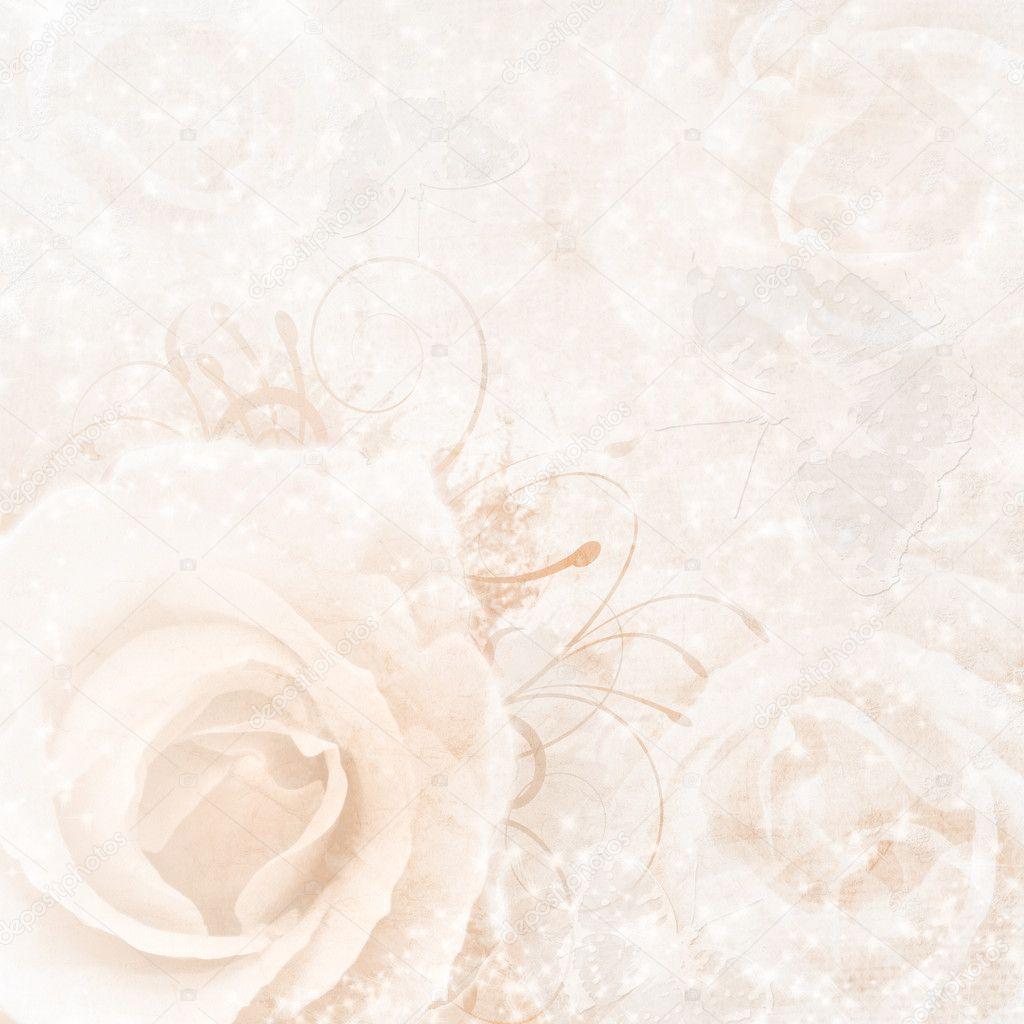 Бежевый свадебный фон