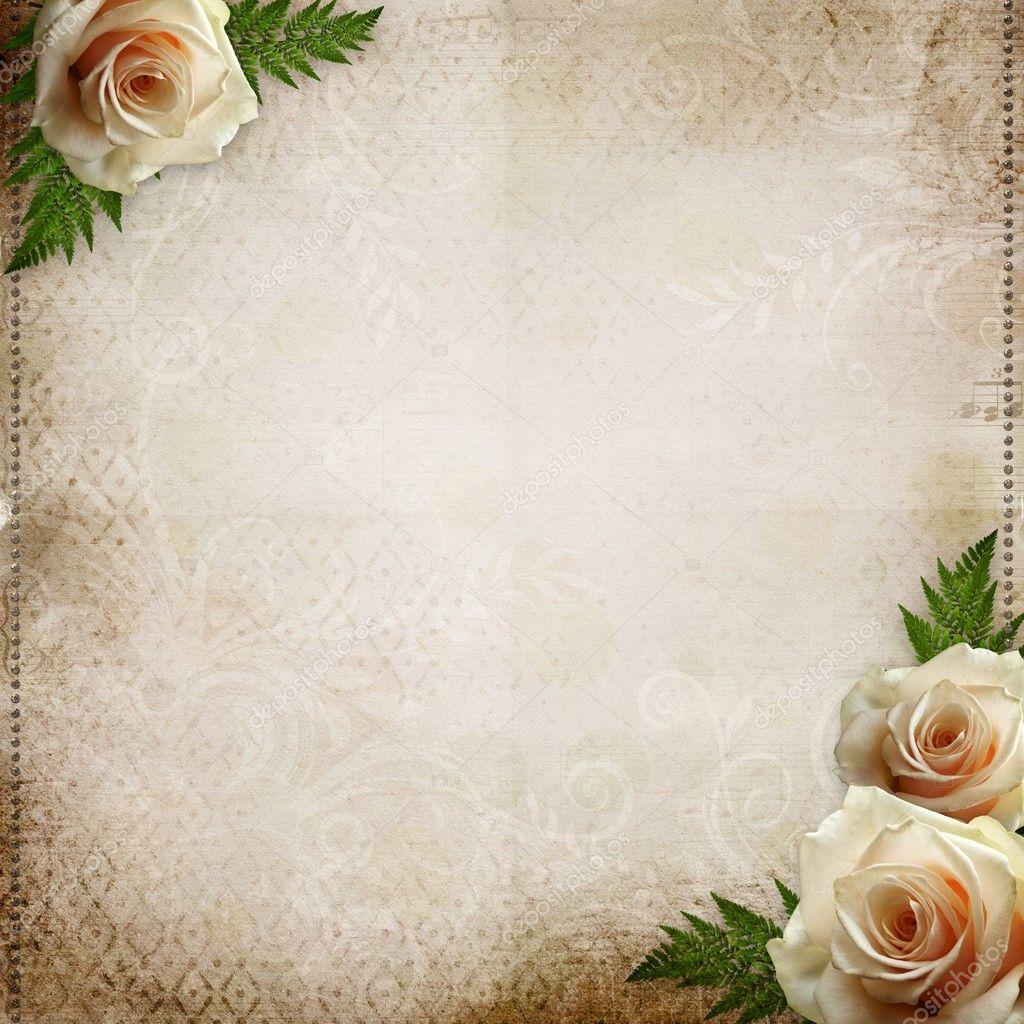 Vintage Beautiful Wedding Background Stock Photo