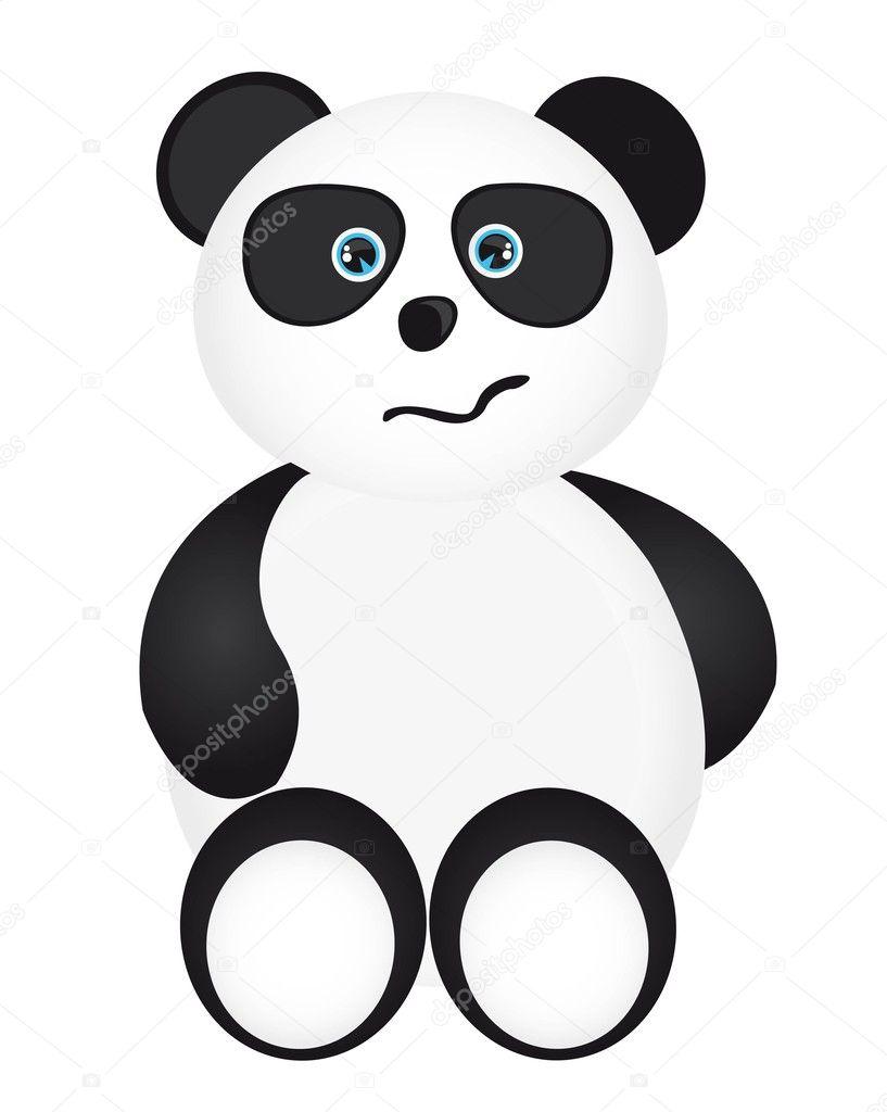 Cartone animato panda — vettoriali stock yupiramos
