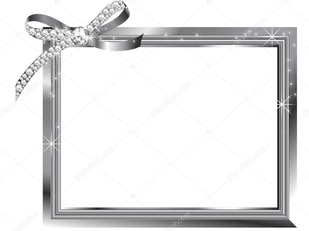marco de plata — Archivo Imágenes Vectoriales © sarininka #7602455