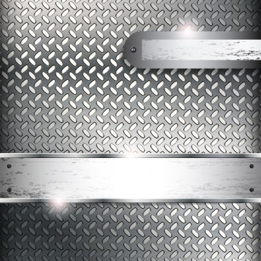 Abstract background with metall banners.