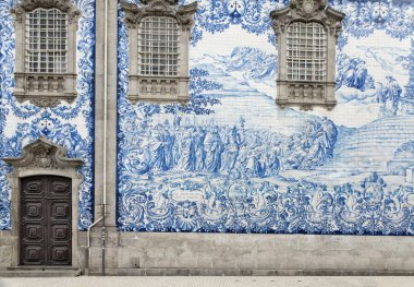 Tile work in Porto, Portugal