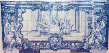 Blue handpainted tiles, Azulejos