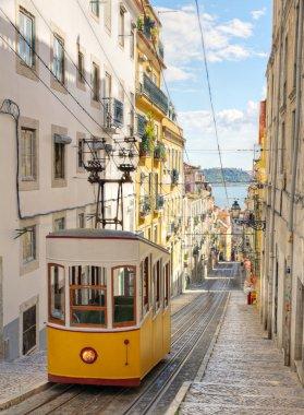Lisbon's Gloria funicular, Portugal