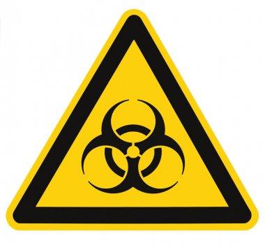 """Картина, постер, плакат, фотообои """"Biohazard символ знак биологической угрозы изолированных черный желтый треугольник с предупреждением вывесок макроса"""", артикул 7629761"""