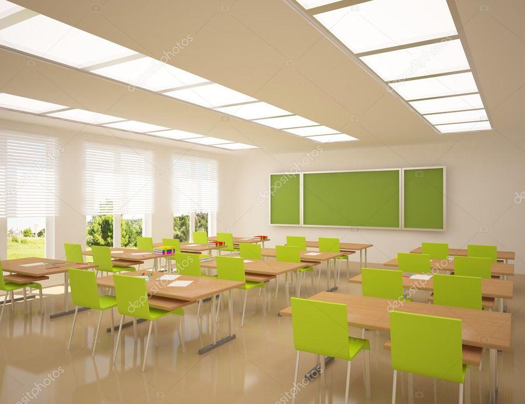 moderne school interieur stockfoto