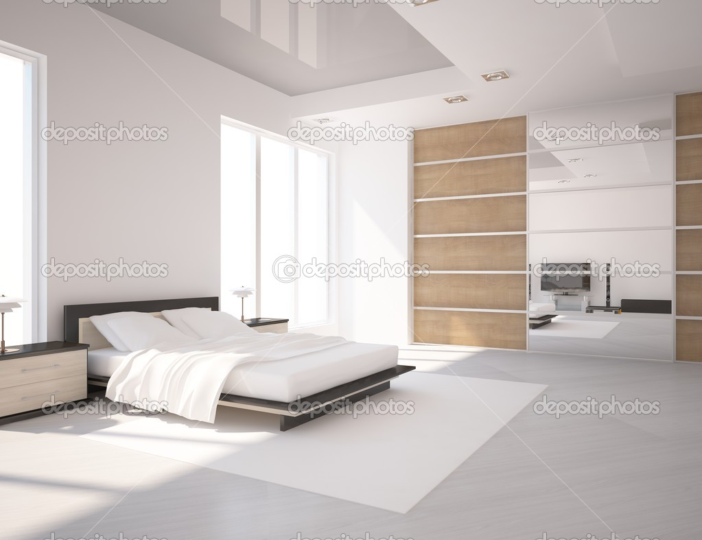 camera da letto bianco — Foto Stock © antoha713 #7899588