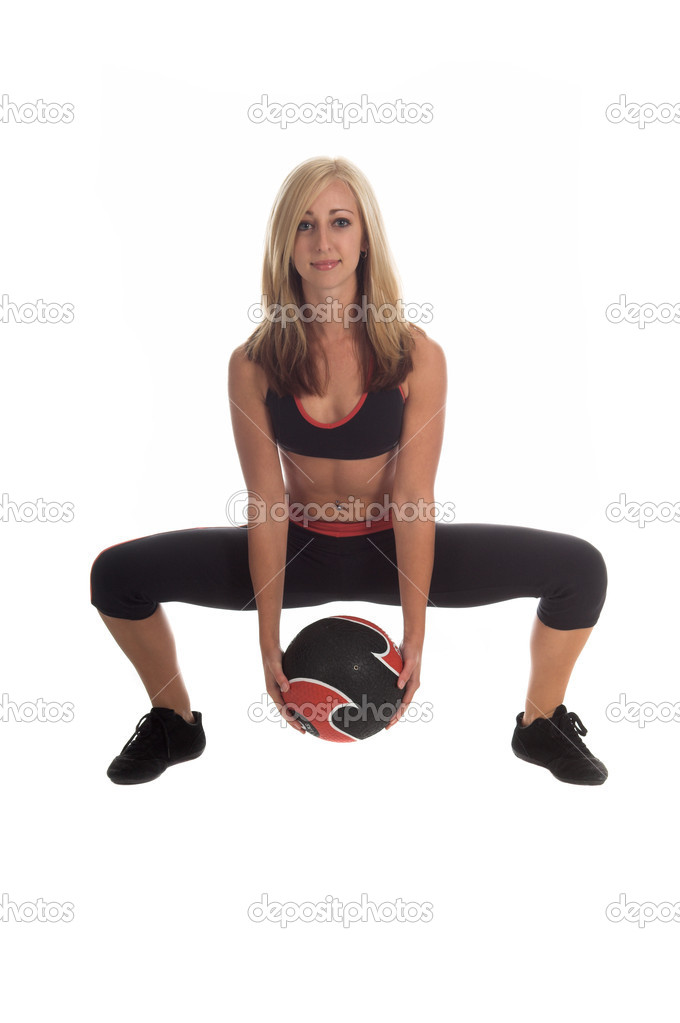 Medicine Ball Squat — Stock Photo © realdealphoto #6756647
