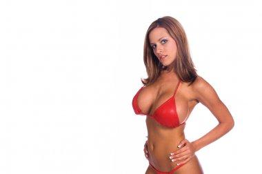 Blue Eyes Red Bikini