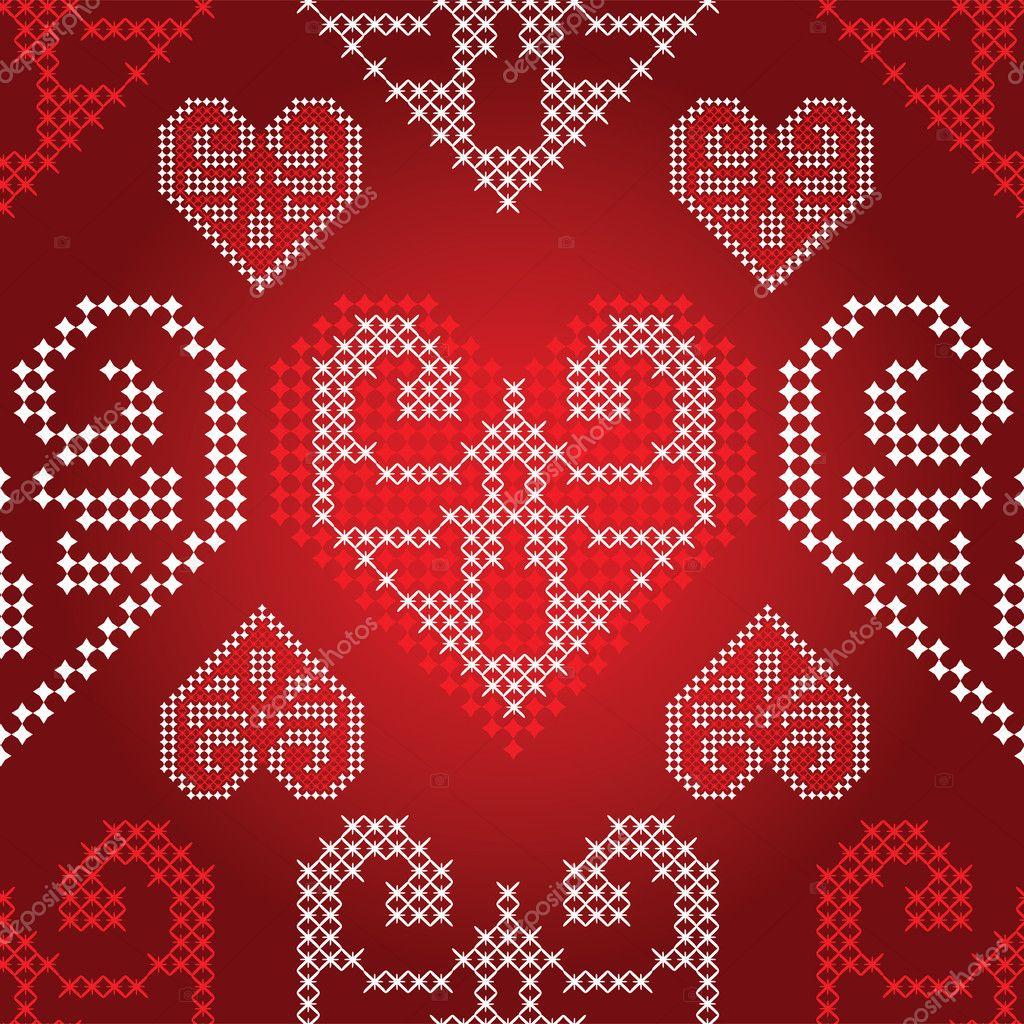 Großartig Stricken Valentine Muster Zeitgenössisch - Strickmuster ...