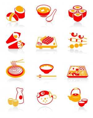 Japanese sushi-bar icons | JUICY series