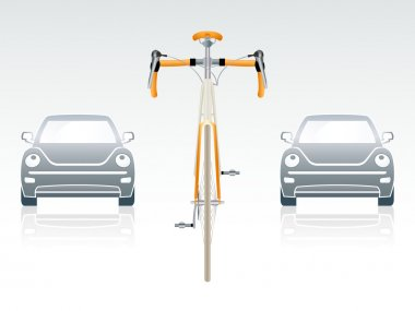 Bicycle front view