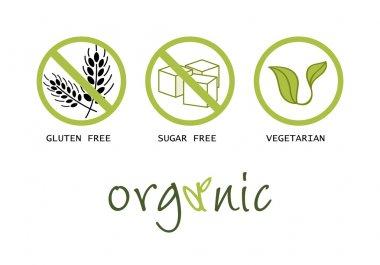 Healthy food symbols