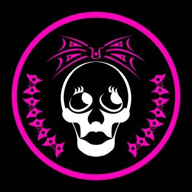 Emo girl skull