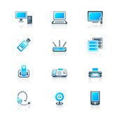 Kancelář elektroniku ikony | Marine série