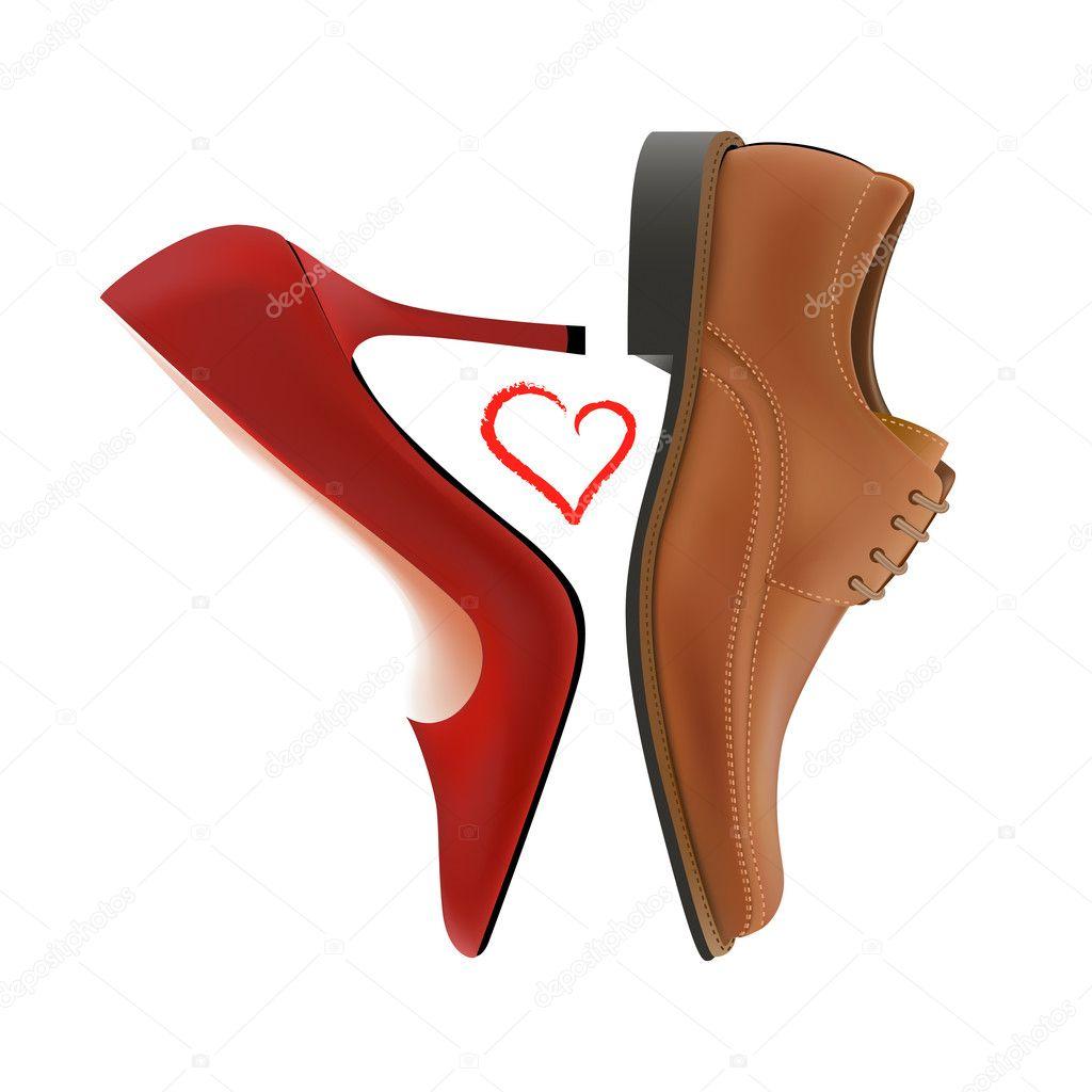 Love between shoes