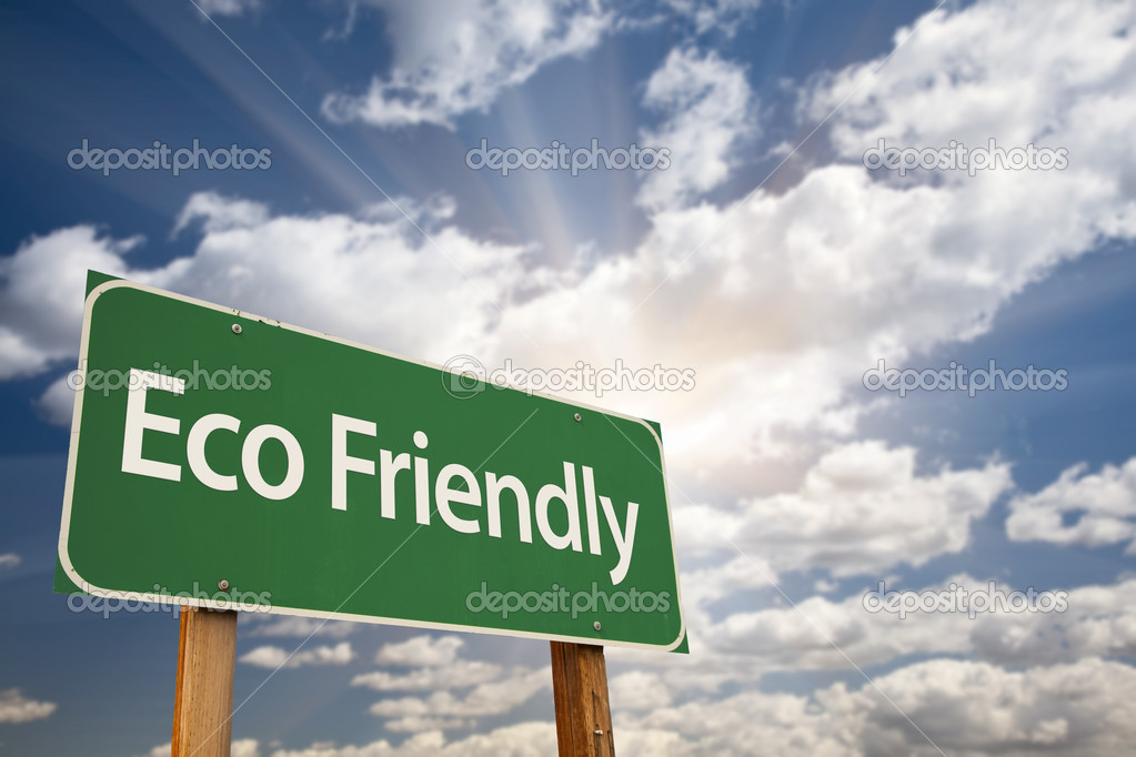 Eco Friendly Green Road Sign