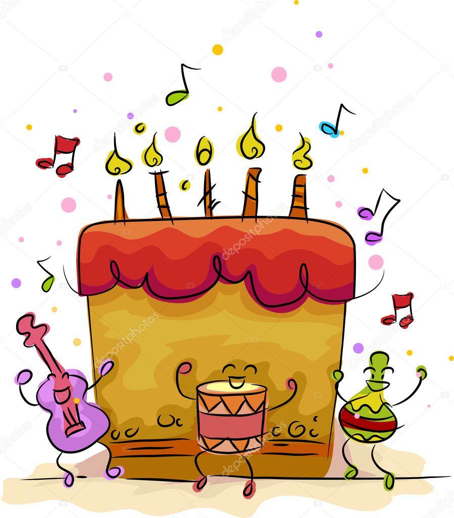 Brilliant Music Themed Birthday Cake Ideas Birthday Cake Stock Photo Funny Birthday Cards Online Alyptdamsfinfo