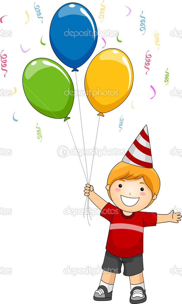 Kid Birthday Balloons Stock Photo