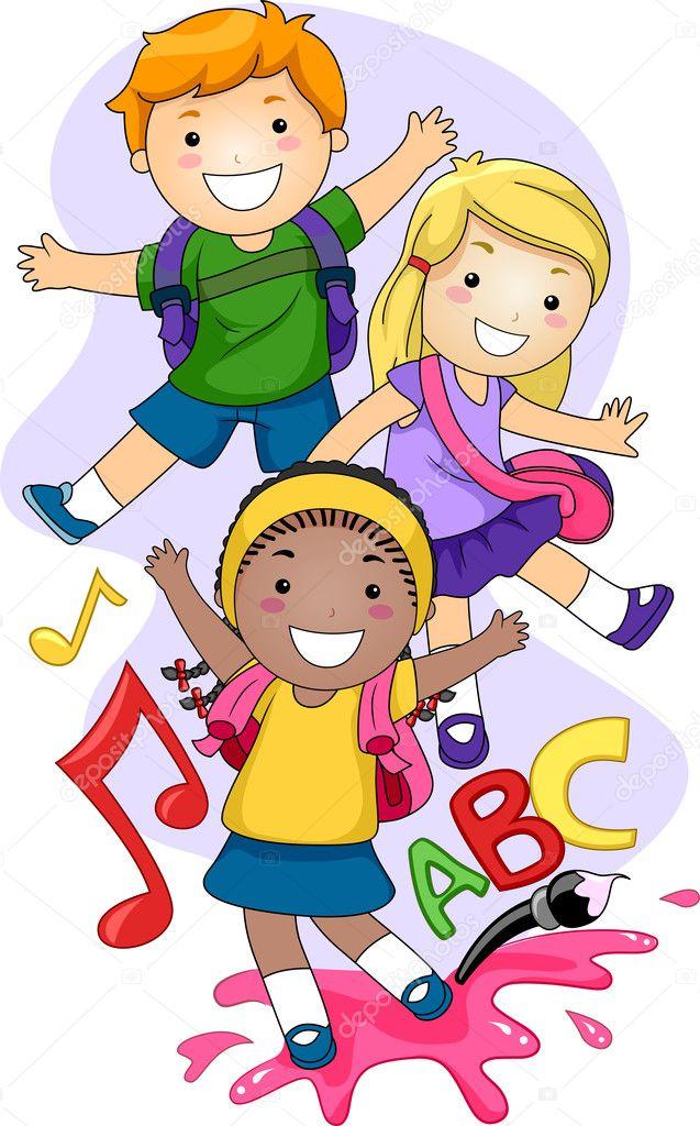 Disegni Bambini Che Giocano A Scuola Scuola Dellinfanzia Bambini