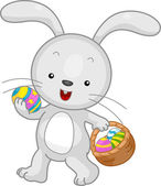 Velikonoční zajíček koš