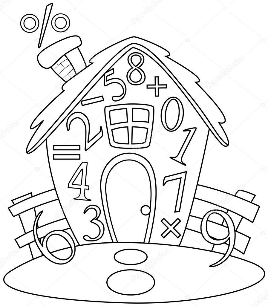 Imágenes Simbolos Matematicos Para Colorear Casa De Matemáticas