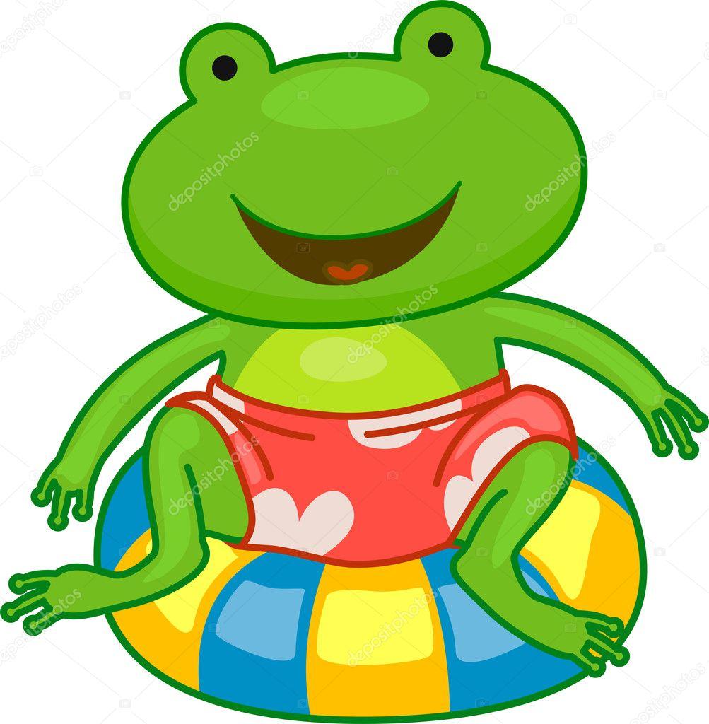Image result for cartoon frog summer